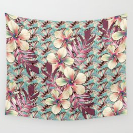 Vintage Hibiscus Ohana Wall Tapestry