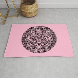 Mayan Calendar // Pink Rug