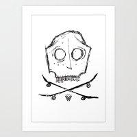 [SKATE PIRATE] Art Print