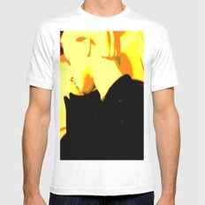 Ghost Of Elvis White Mens Fitted Tee SMALL