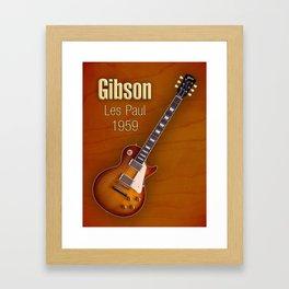 Vintage Gibson Les paul 1959 Framed Art Print