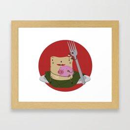 Tamal con cerdo Framed Art Print