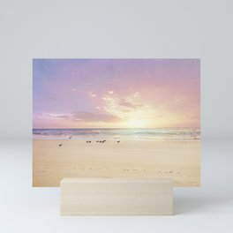 the beach is my happy place Mini Art Print
