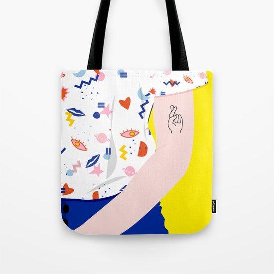 CROSSED FINGERS Tote Bag