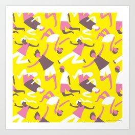 weightlessness - yellow Art Print