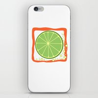 coasters iPhone & iPod Skins featuring LIME by Tanya Pligina