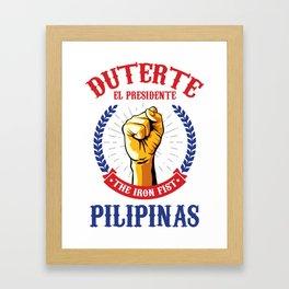 Duterte El Presidente The Iron Fist Framed Art Print