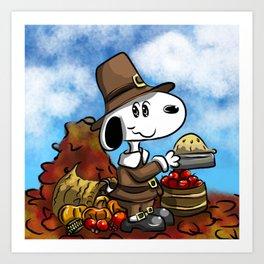 Harvest Beagle Art Print