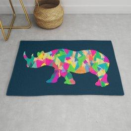Abstract Rhino Rug