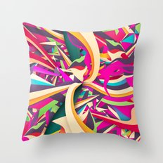 Explosion #2 Throw Pillow