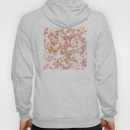 Rose Gold Glitter Bling Party Pink Sparkle Marble Hoody