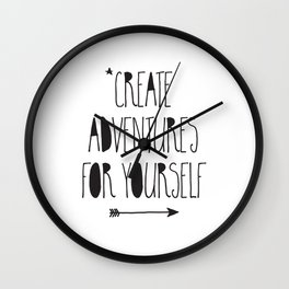 Adventures Wall Clock