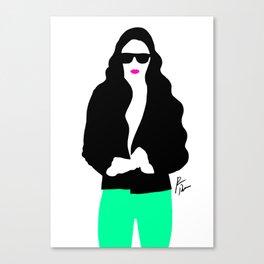 Neon pants Canvas Print