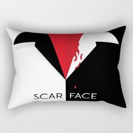 Scarface Minimalist Movie Poster Rectangular Pillow