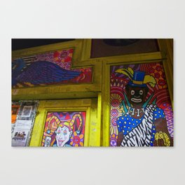 New Orleans Bourbon Street Mural Canvas Print