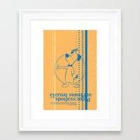 eternal sunshine of the spotless mind Framed Art Prints featuring Eternal Sunshine of the Spotless Mind by dann matthews