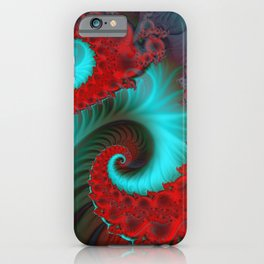 fractal spirals and colors -15- iPhone Case