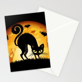 Starry Night Cat Stationery Cards