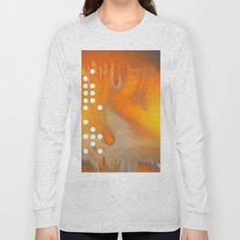 Orange Abstract Passion Long Sleeve T-shirt