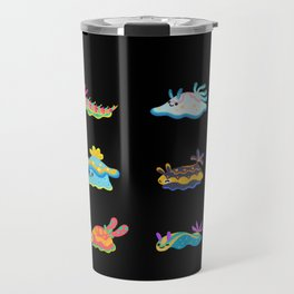 Sea slug - black Travel Mug