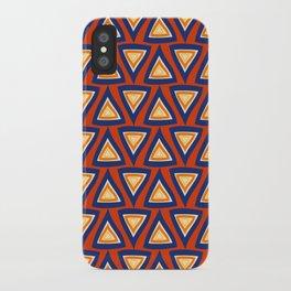 Blue Orange Triangles iPhone Case