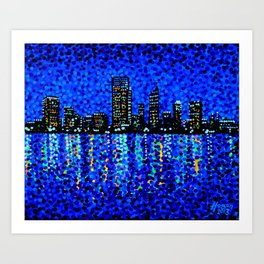 Perth Evening Blues Art Print