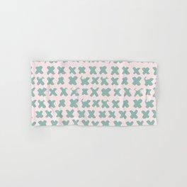 Contemporary X Paint Cross stich Pink Mint Pattern Hand & Bath Towel