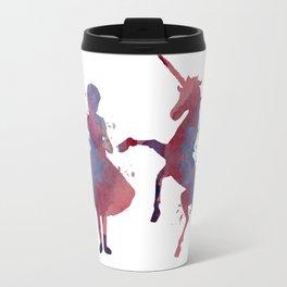 Girl with unicorn Travel Mug