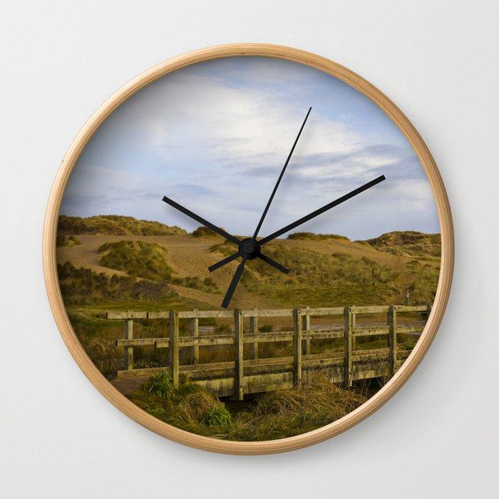 Cornish Seascape Holywell Bay Wall Clock