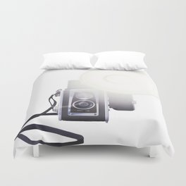 Vintage Twin Lens Reflex Camera Duvet Cover