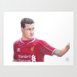 Coutinho Ballpoint Pen Drawing.  Art Print
