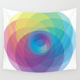 Spiral Rose Wall Tapestry