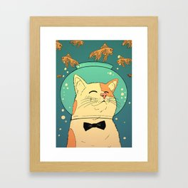 Cat's Dream Framed Art Print