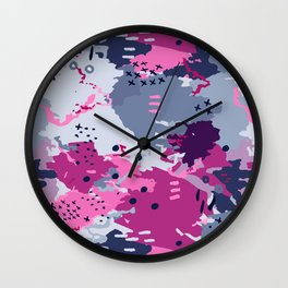 Jessee's Abstract Experiment #002 Wall Clock
