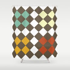 Checkers Fall Shower Curtain