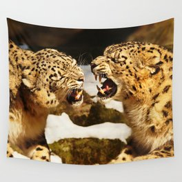 Snow Leopards Wall Tapestry