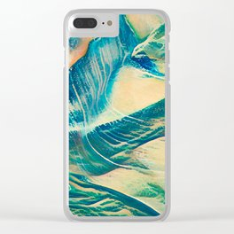Sandy Waves Clear iPhone Case