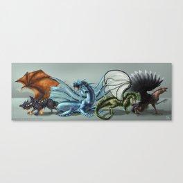 Elemental Dragon Line Up Canvas Print