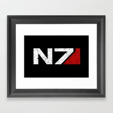 N7 Framed Art Print