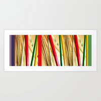 bamboo Art Prints featuring bamboo by Davey Charles