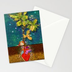 even though i buried my heart, my love has blossomed Stationery Cards