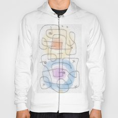 maze with color circles Hoody