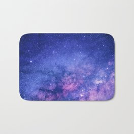 Blue Purple Night Sky, Universe, Galaxy Bath Mat