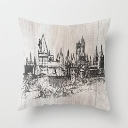 Hogwarts School of Witchcraft and Wizardry Throw Pillow