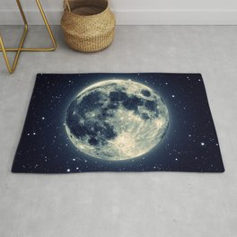 Just the moon Rug