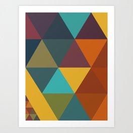 Triangles Colors City 3 Art Print