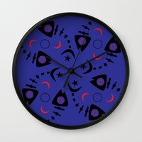 occult Wall Clocks featuring Occult Fish by Lucky Nothin