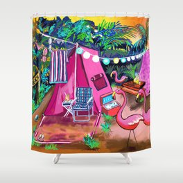 Camp PINK Shower Curtain
