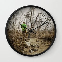 Skateboard Stroll Wall Clock