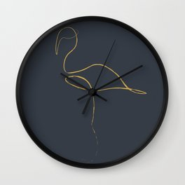 flamingo laine art Wall Clock
